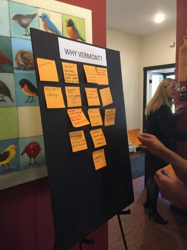 Why Vermont Post-It Exercise